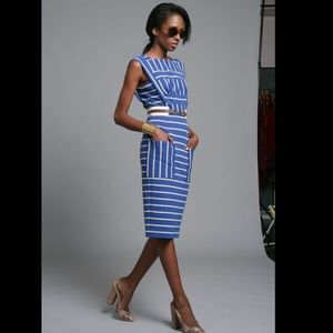 Tracy Reese Striped Dress with Pockets